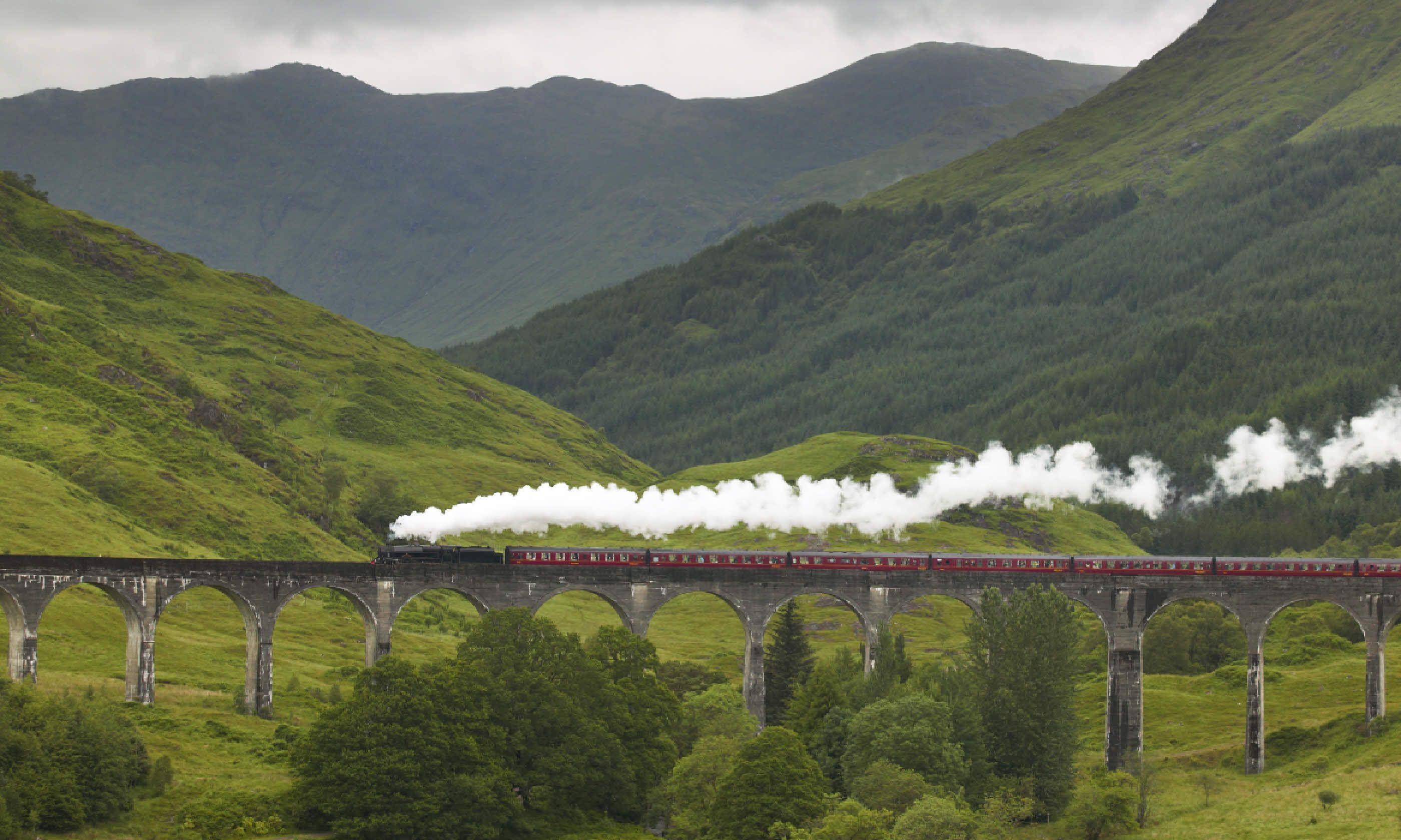 Scottish steam train (Shutterstock)