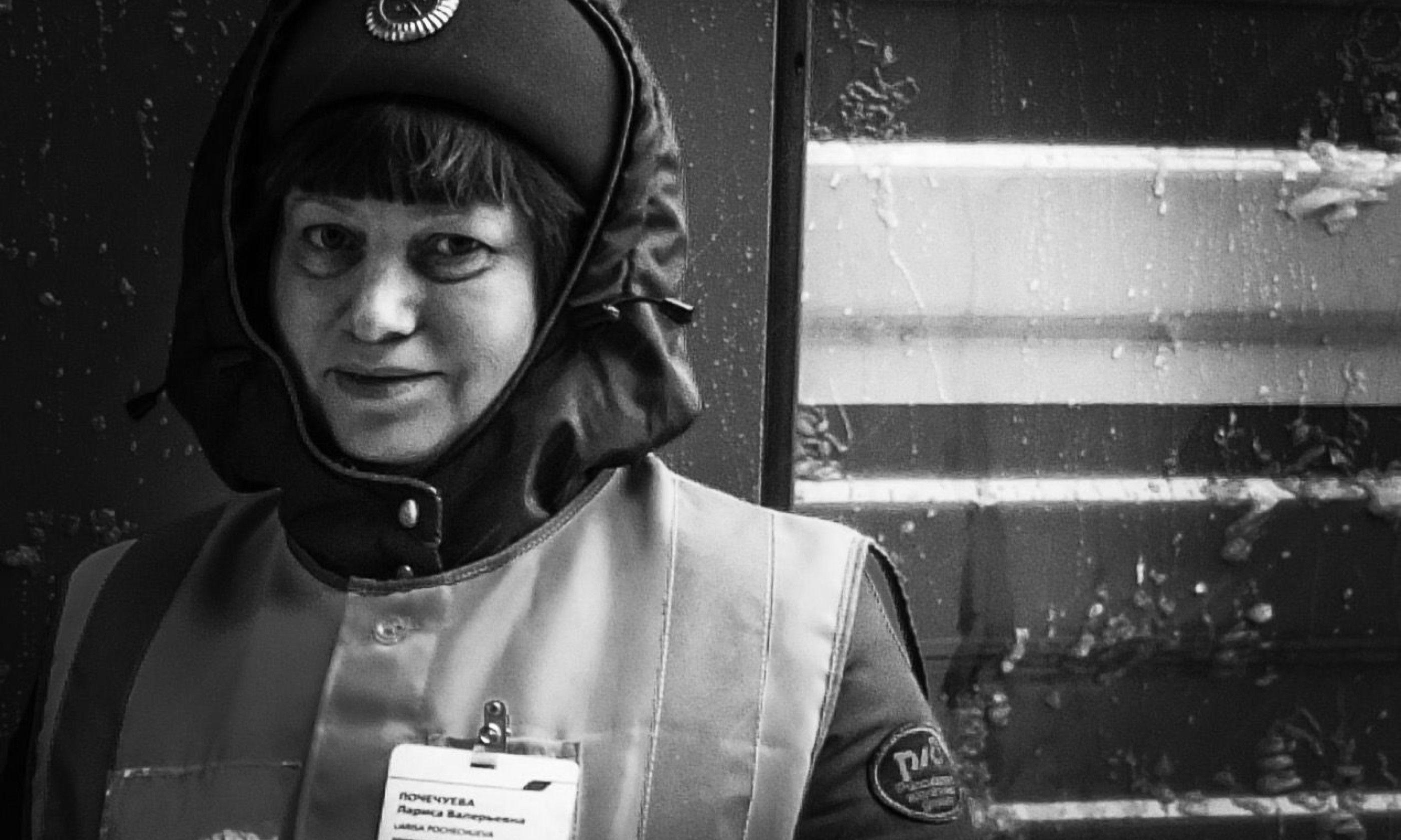 Train guard on the Trans Siberian (Matthew Woodward)