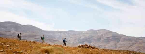 Hikers on a ridge (Jordan Trail)