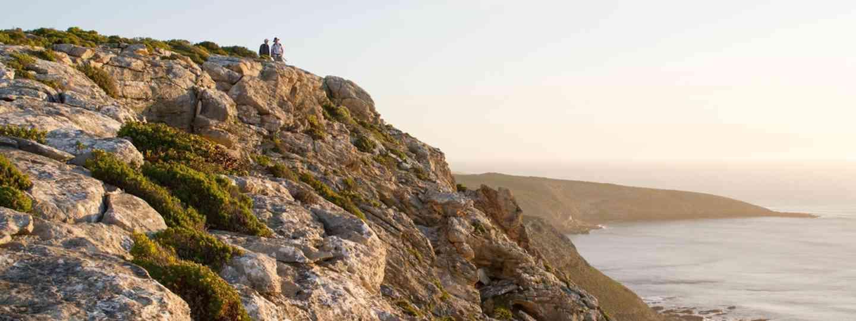 Hikers taking in ocean views on Kangaroo Island (KIWT)