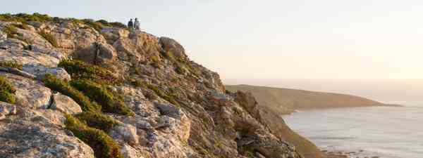 Hikers taking in ocean views on Kangaroo Island (KIWT)