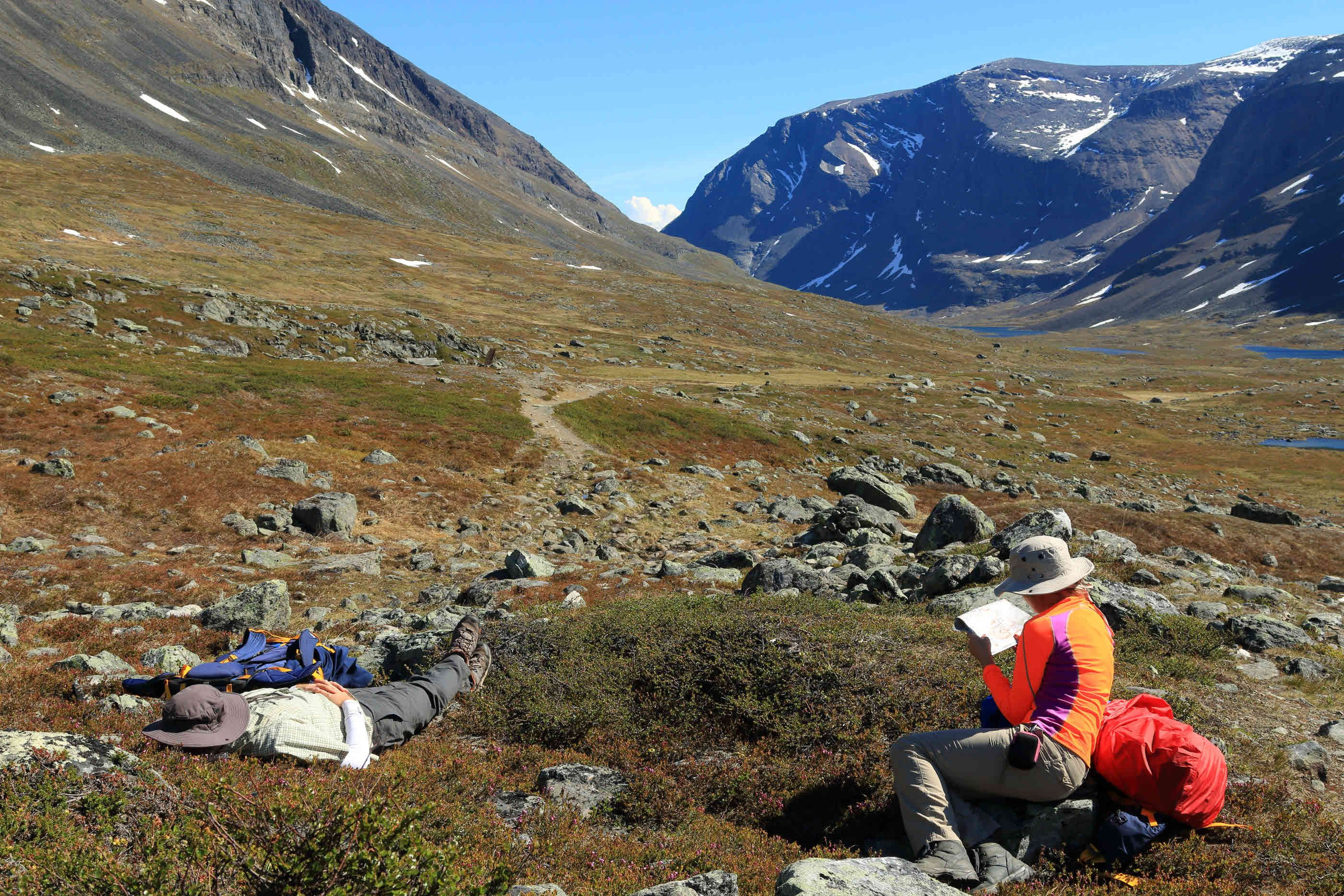 Trekking The Kungsleden Trail In Remote Swedish Lapland Wanderlust - Sweden map trekking