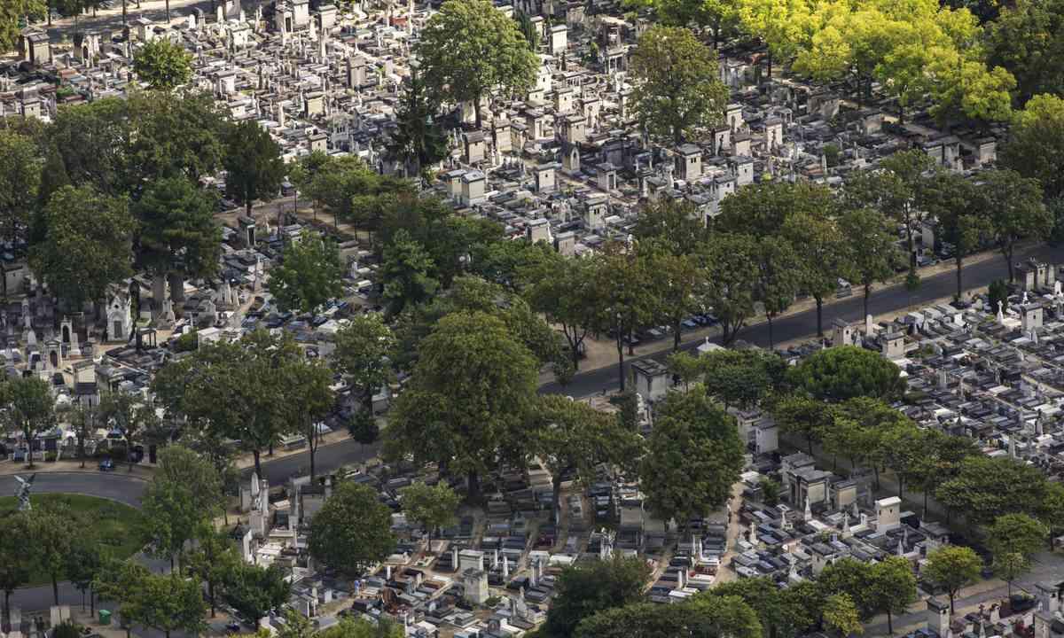 Aerial view of Montparnasse cemetery (Shutterstock.com)