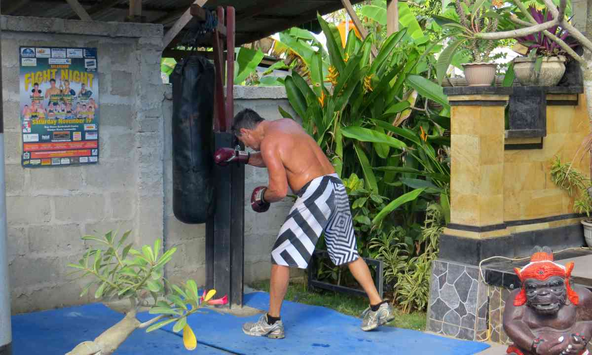 Punching bag in Indonesia (Justin Egli)
