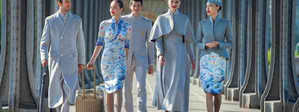 Hainan Airlines wearing new uniforms (Hainan Airlines)