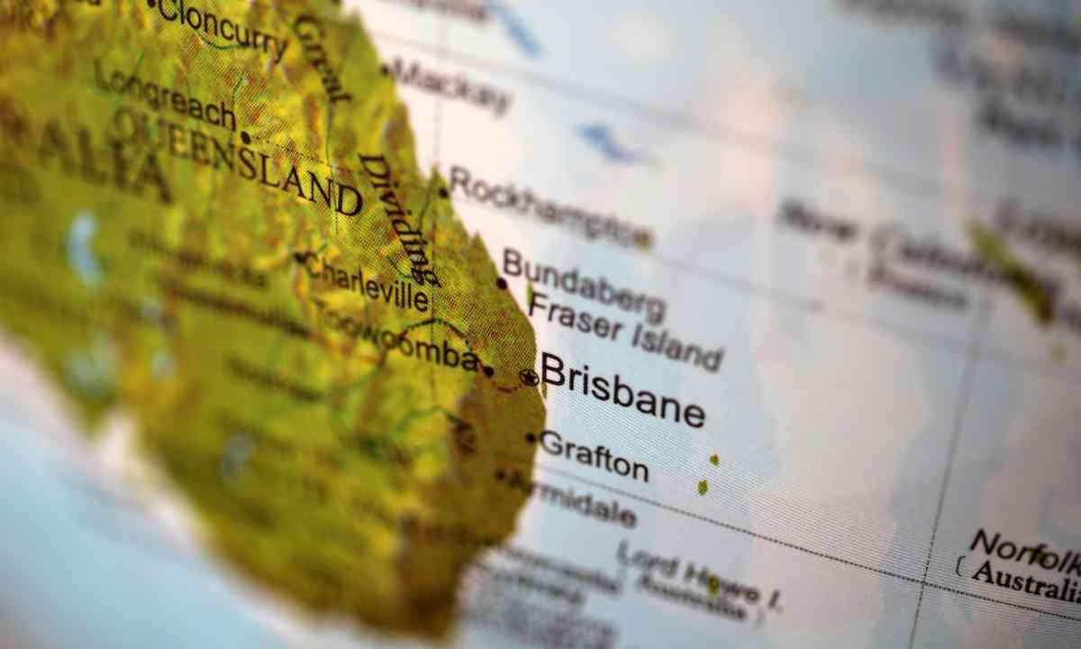 Map of east coast Australia (Shutterstock.com)