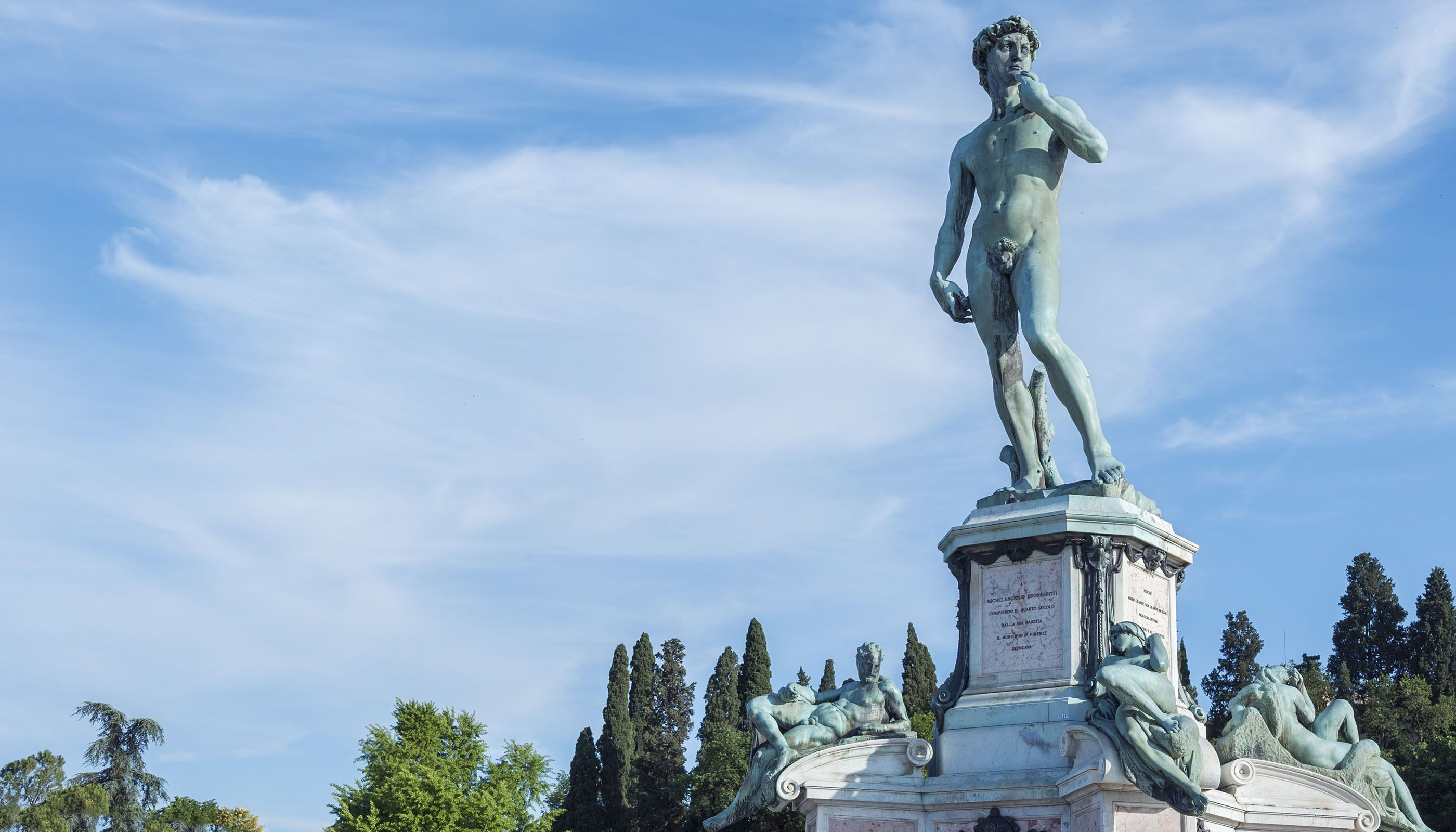 David overlooking Florence (Shutterstock.com)