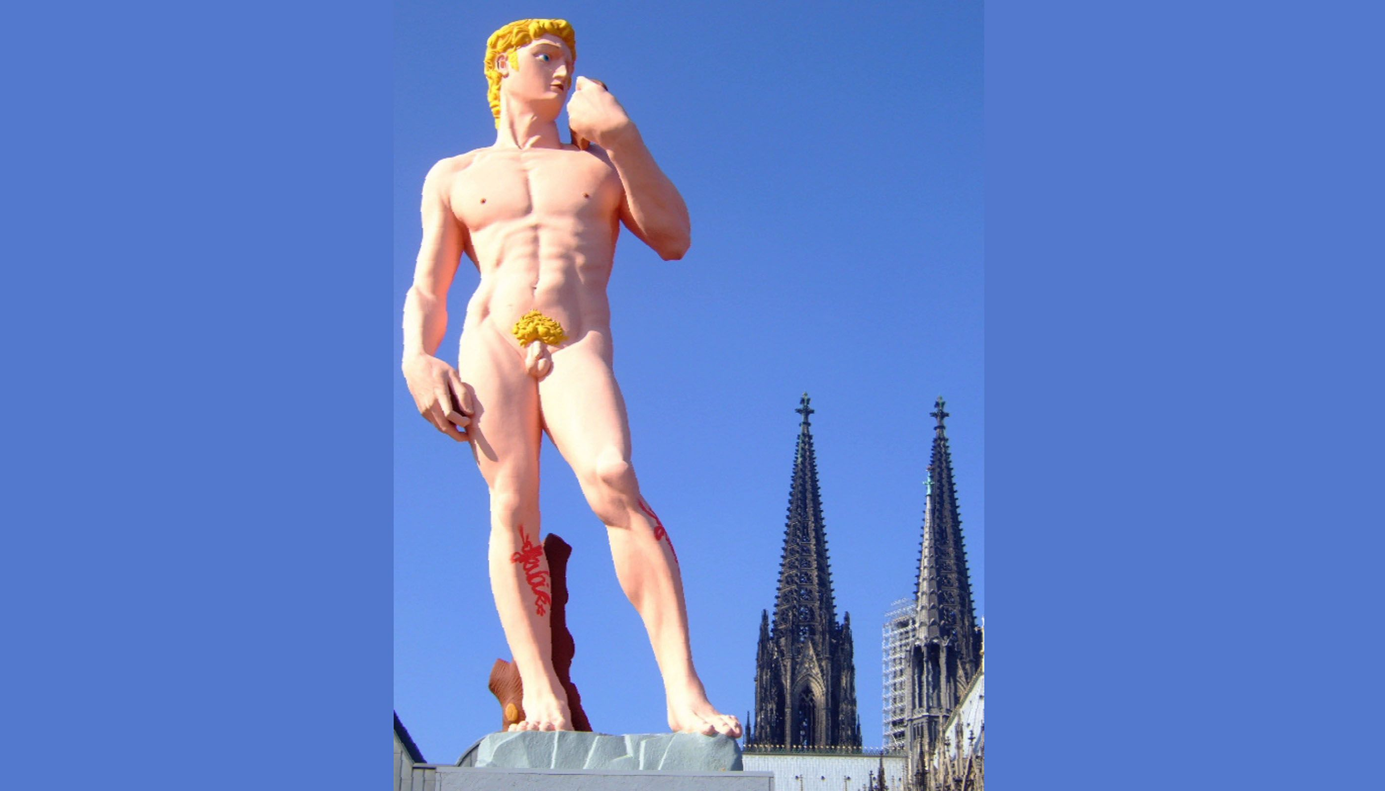 David in Cologne (Creative Commons: Leonce-49)