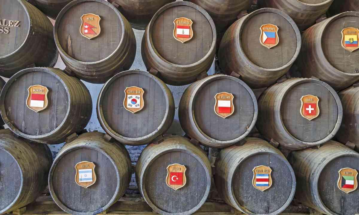 Sherry casks, Jerez (Shutterstock.com)