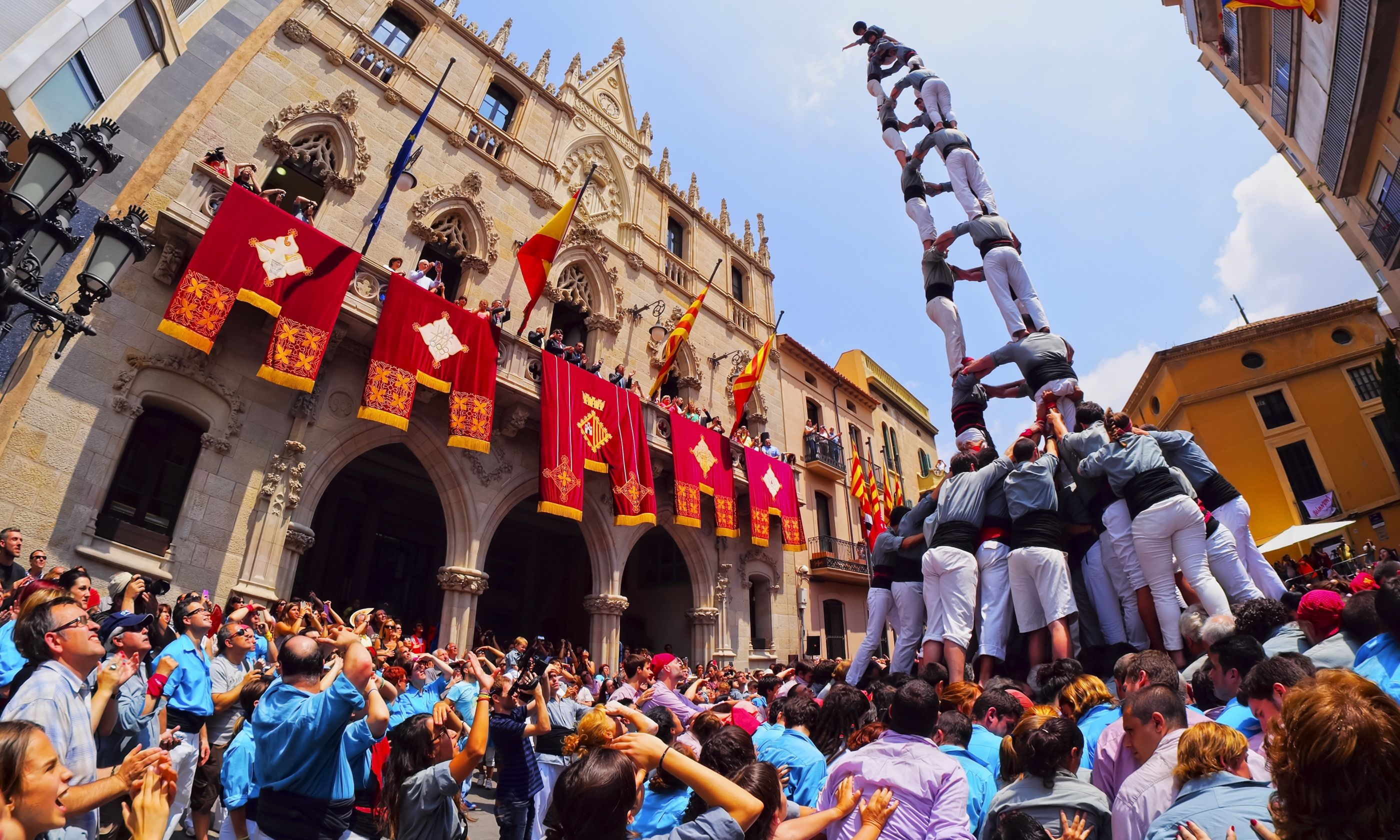 Human tower, Spain (Shutterstock.com)