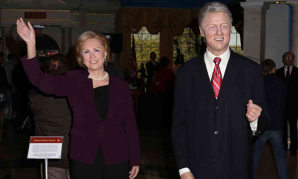 Wax figure of Bill Clinton (Shutterstock.com)
