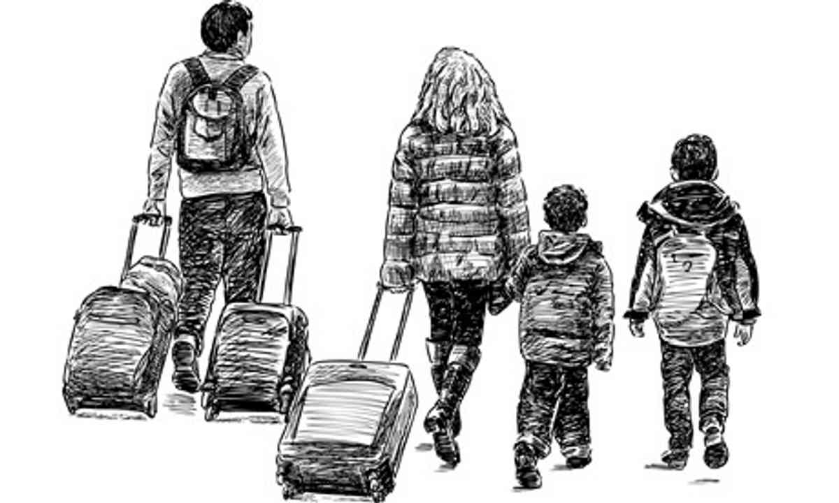 Sketch of family travelling (Shutterstock.com)