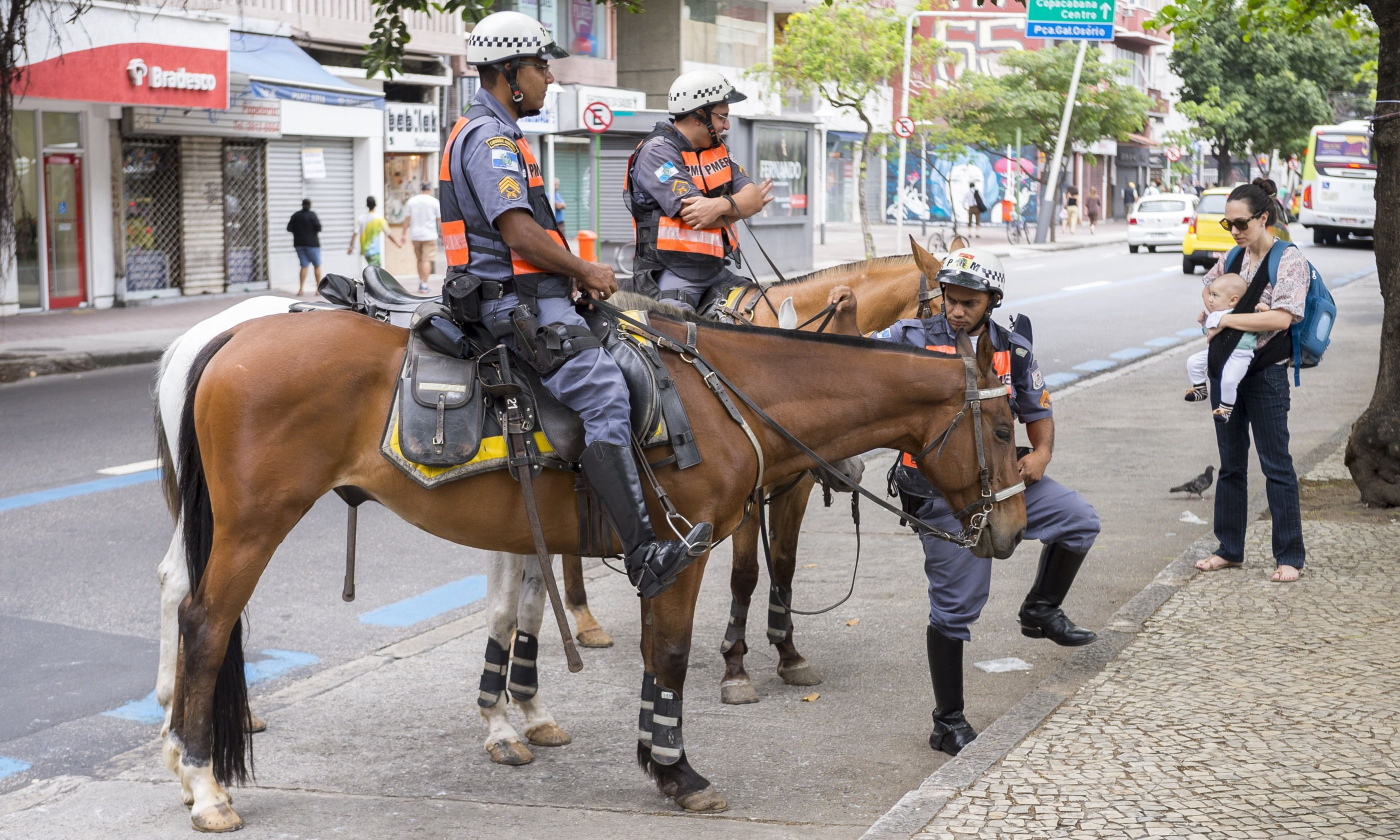 Police horses in Rio (Shutterstock.com)