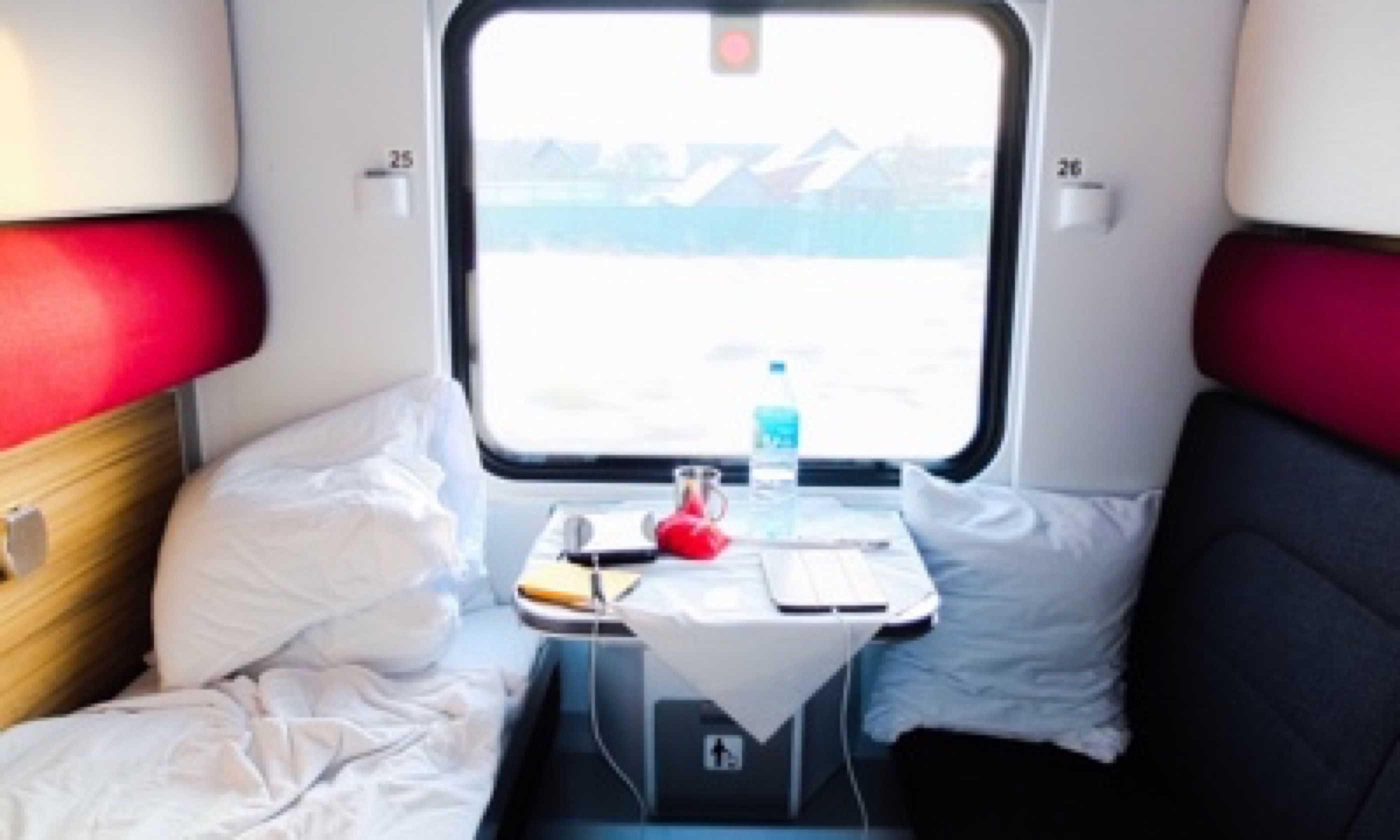 Cabin on the night train to Moscow (Matthew Woodward)