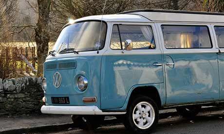 Drive away the blues in a VW camper van (kfjmiller)