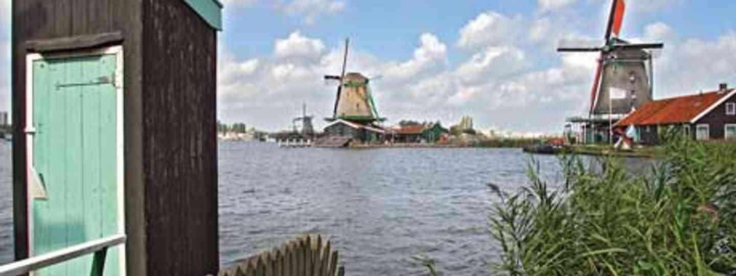 A traditional toilet overhanging the River Zaan, Zaandam, Holland (Terry Langhorn)