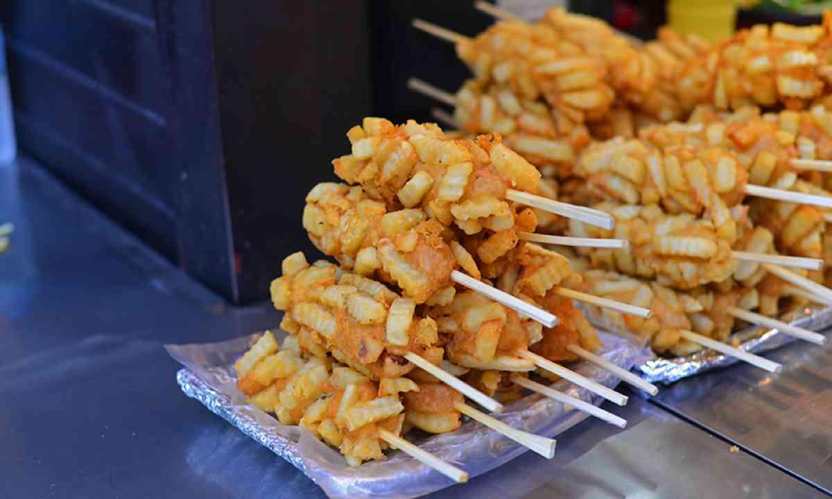 Battered hotdogs (LifesWanderlust: Street food in Seoul)