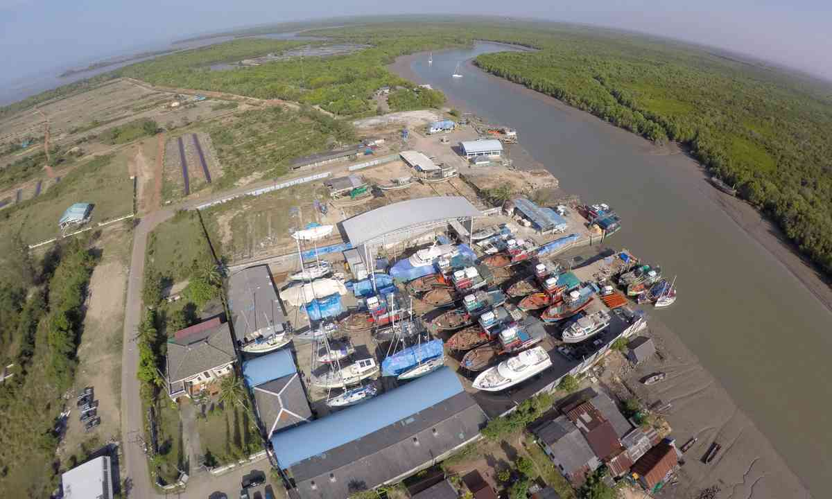 Aerial view of shipyard (Jamie Furlong)