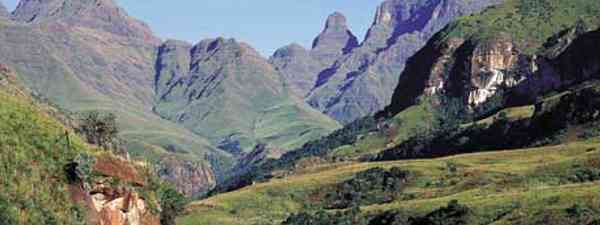 The Drakensberg Mountains are dotted with original San rock are (South Africa Tourism)