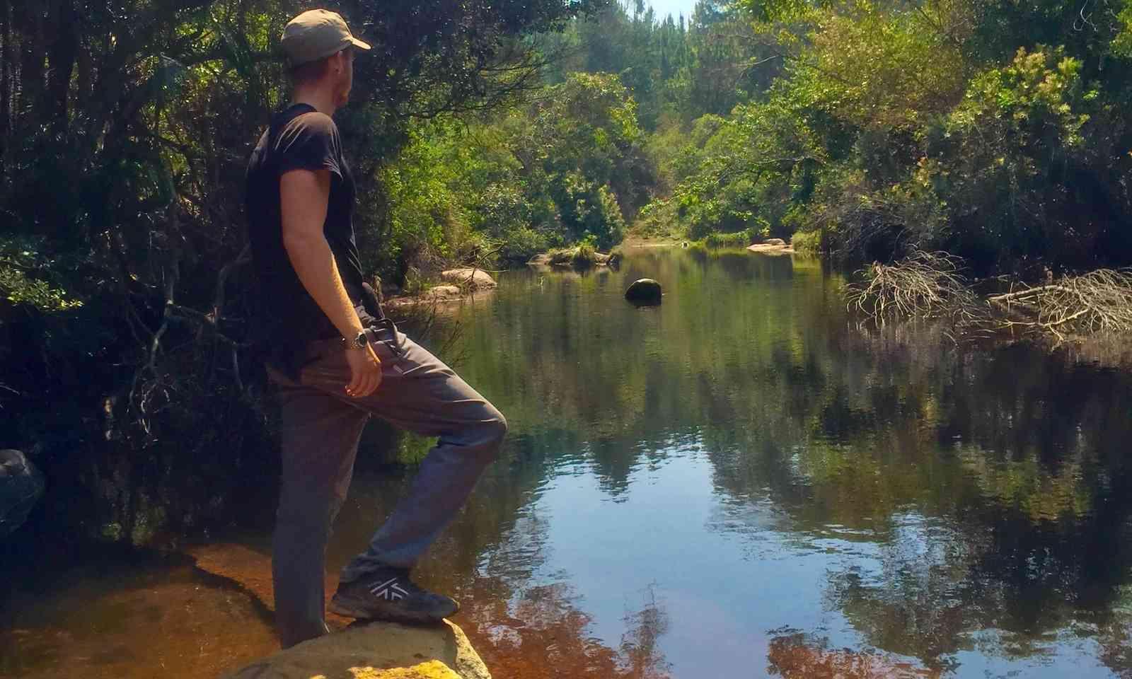 Ash contemplating a river (Suzanna Tierie)