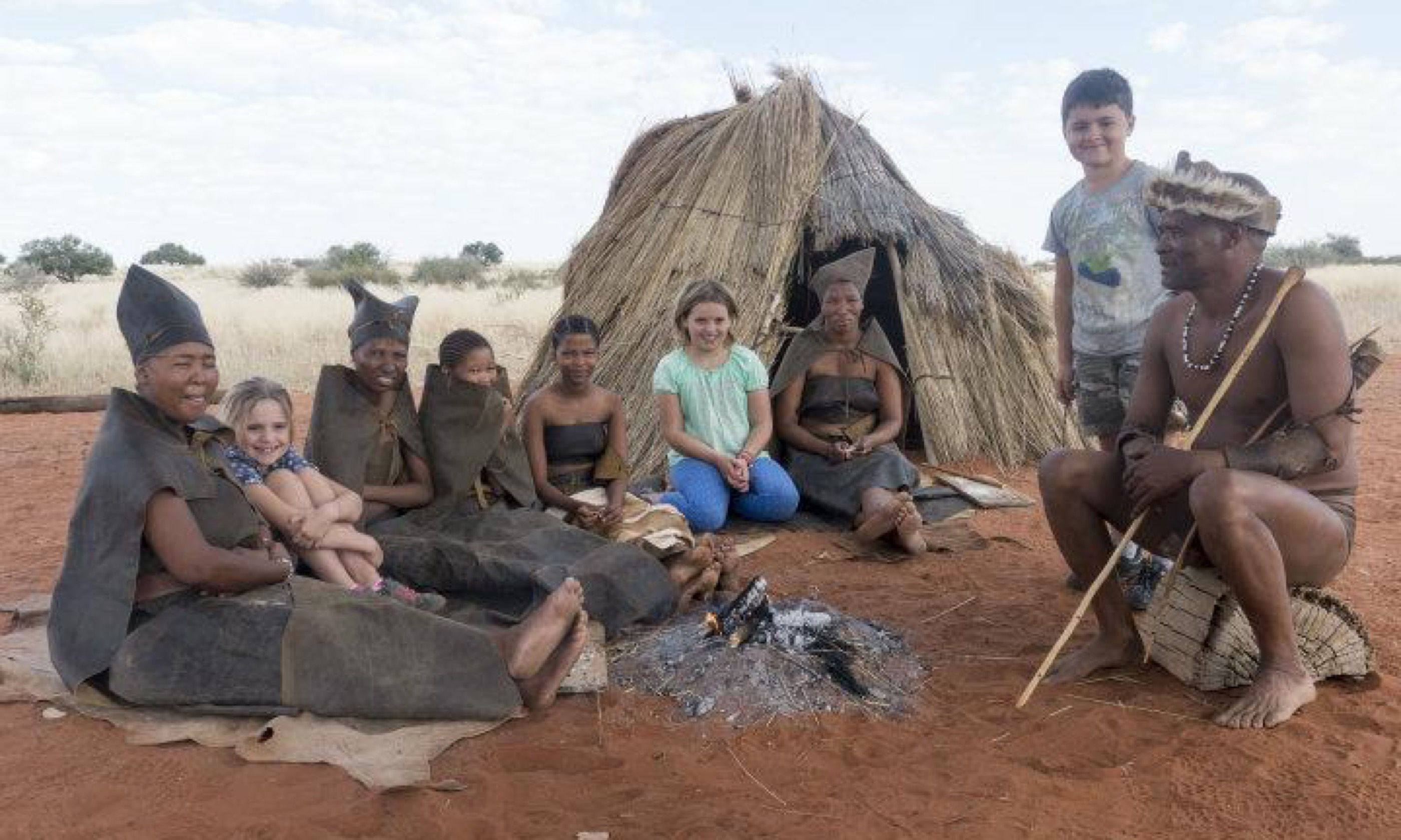 The kids in a San Village (Edwina Cagol)