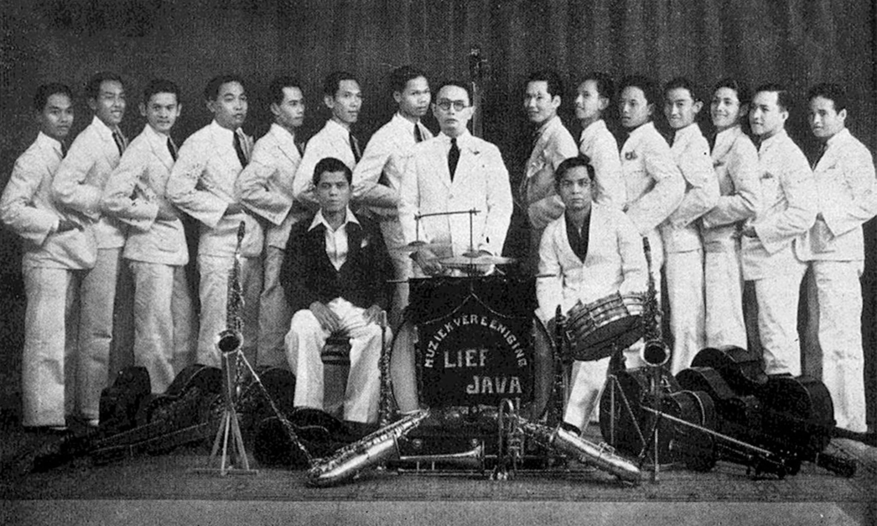 Keronkong Orchestra in Batavia, 1936 (Wiki Imagaes: Public Domain)