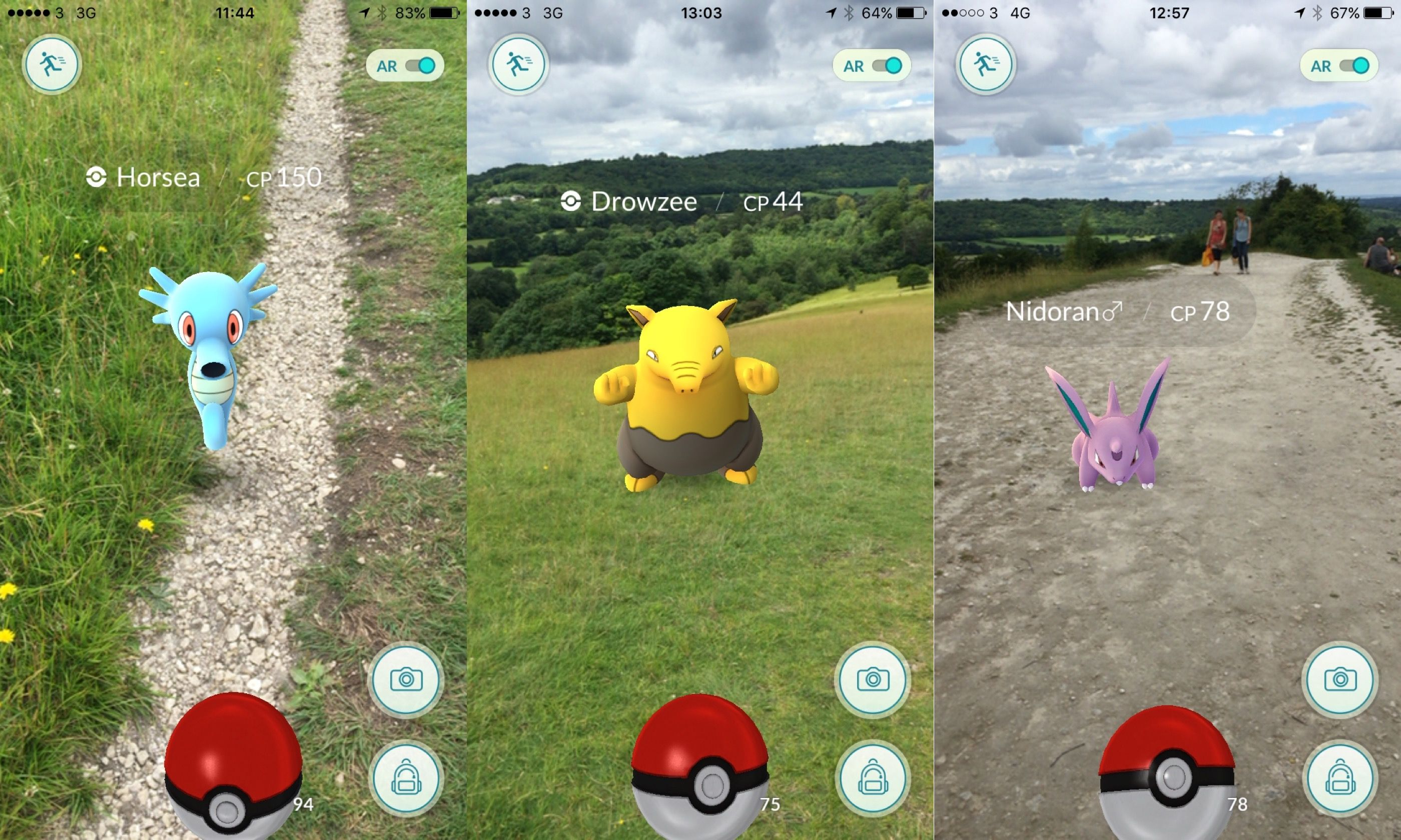 Pokémon on Box Hill