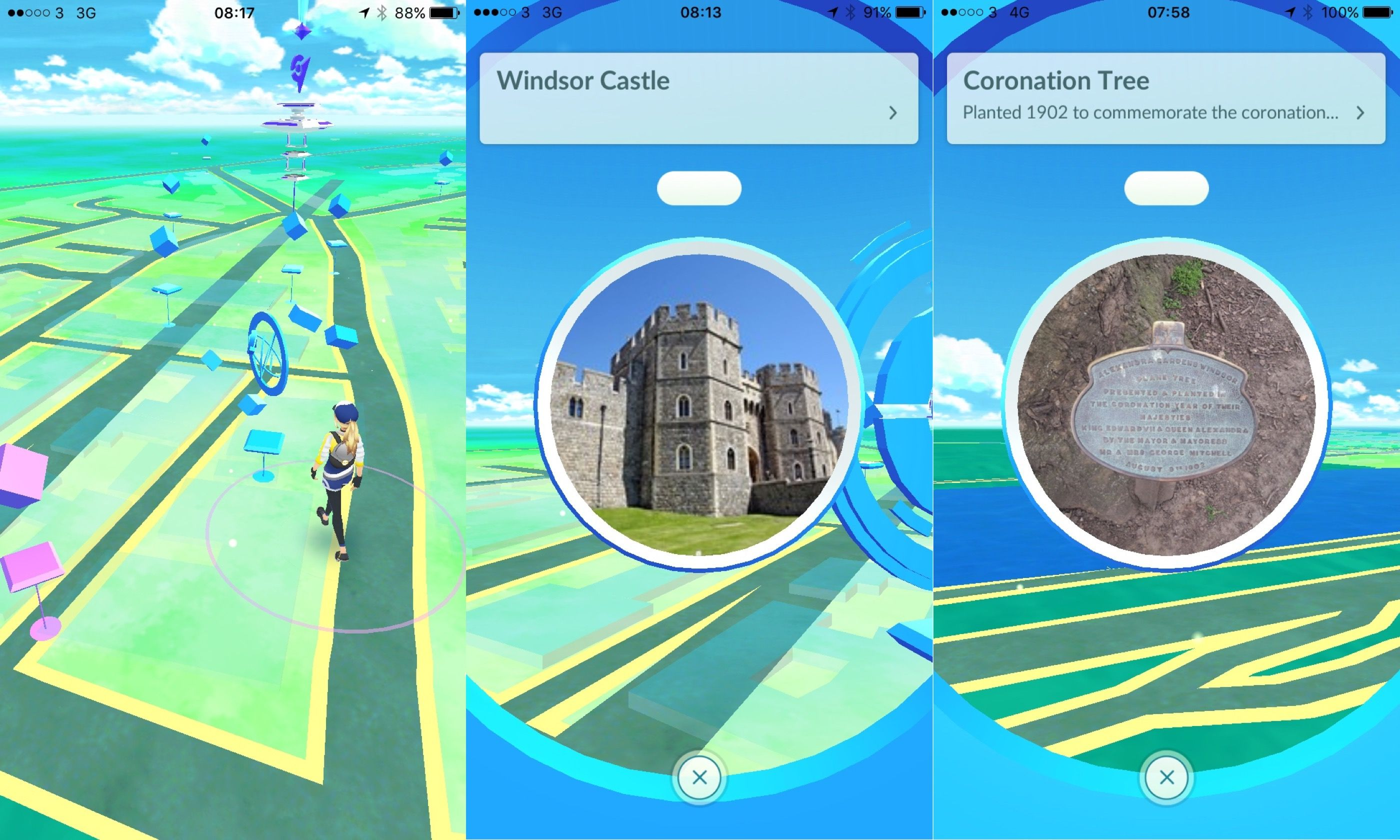 Pokestops around Windsor (Peter Moore)