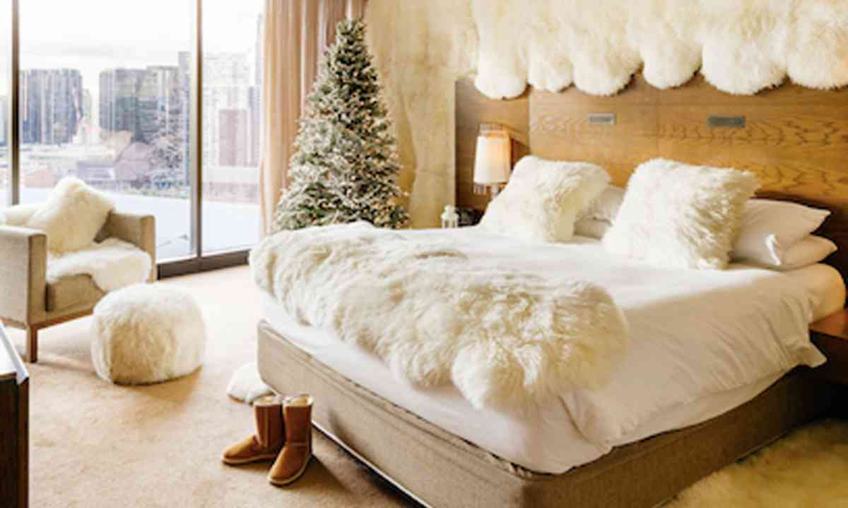 Ugg Winter Wonderland room at the Melbourne Hilton (Hilton)
