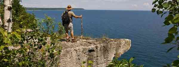 Hiking and trekking is one of the tp activities in Ontario (explore the bruce)