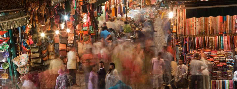 The Souks, Marrakesh (Shutterstock: see credit below)