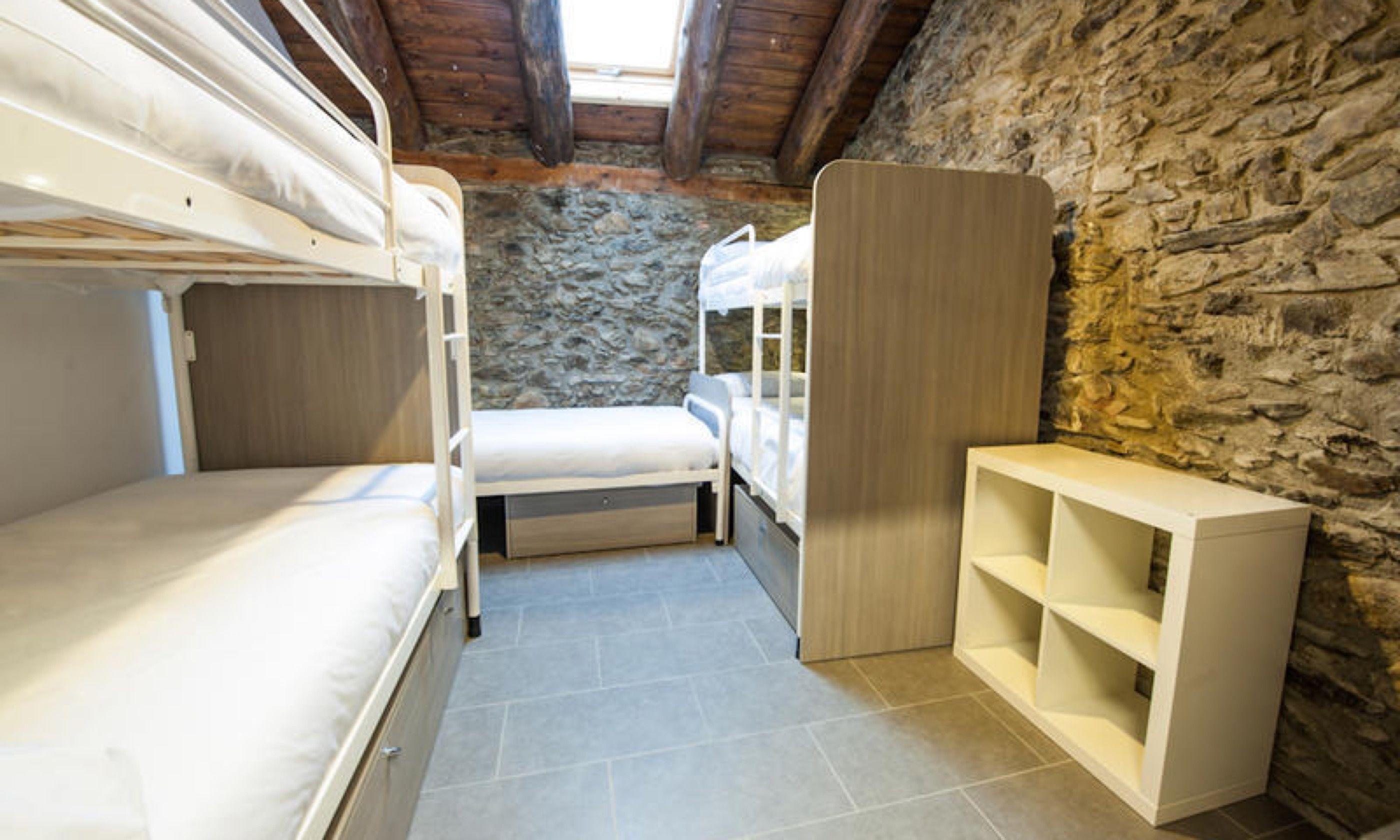 Rustic dorm at Mountain Hostel Tarter (Kash Bhattacharya)
