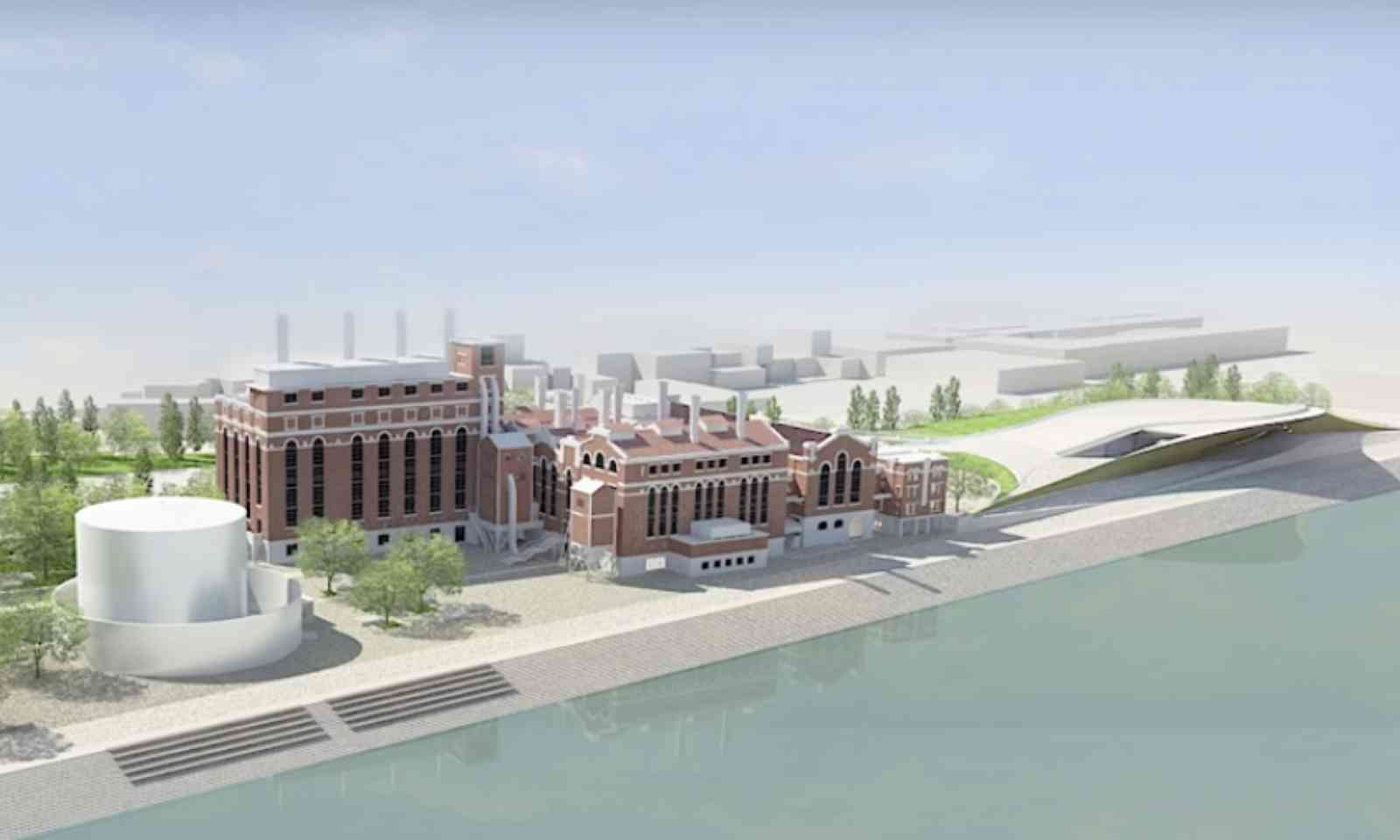Artists impression of the new MAAT buildings (Amanda Levete Architects)