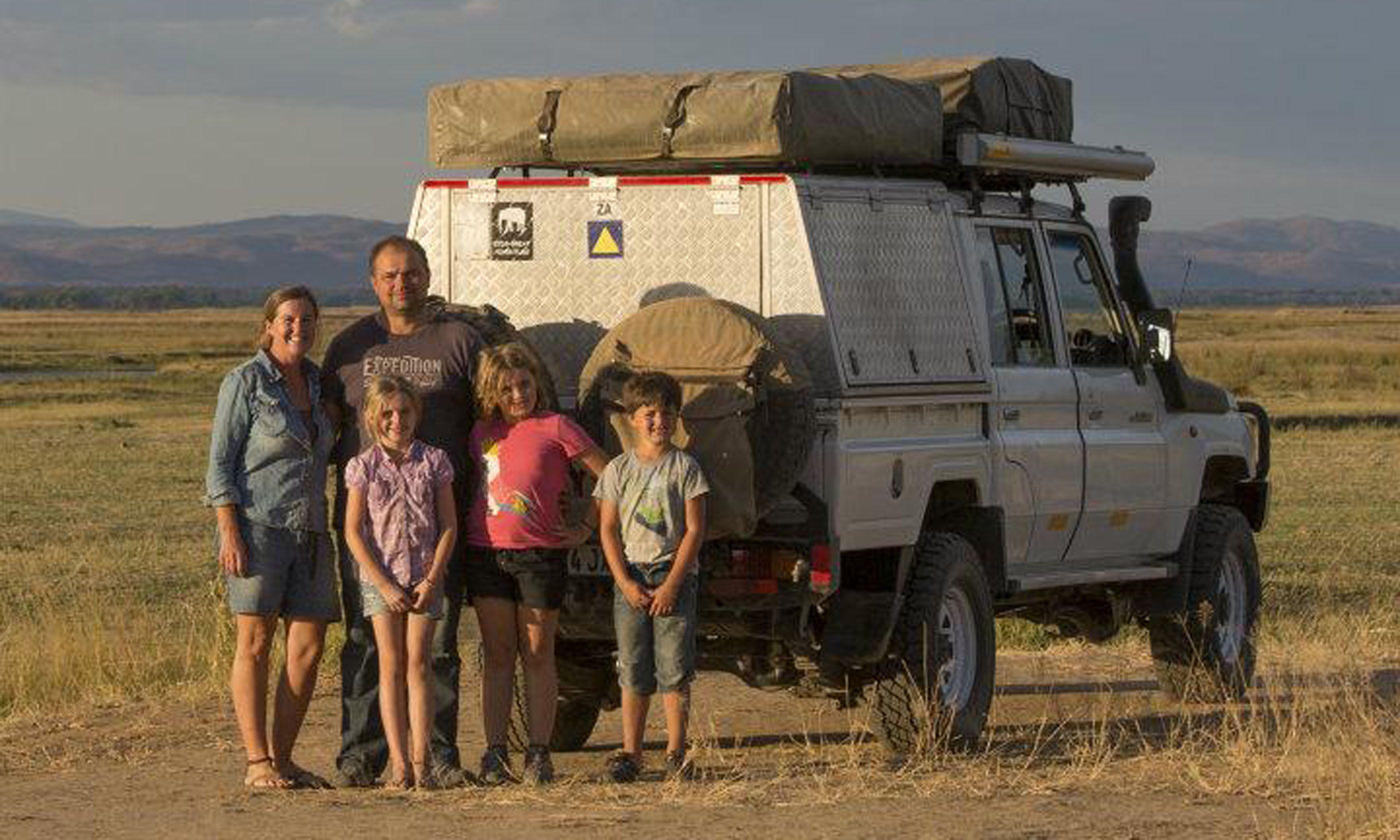 Cagol family on safari (Edwina Cagol)