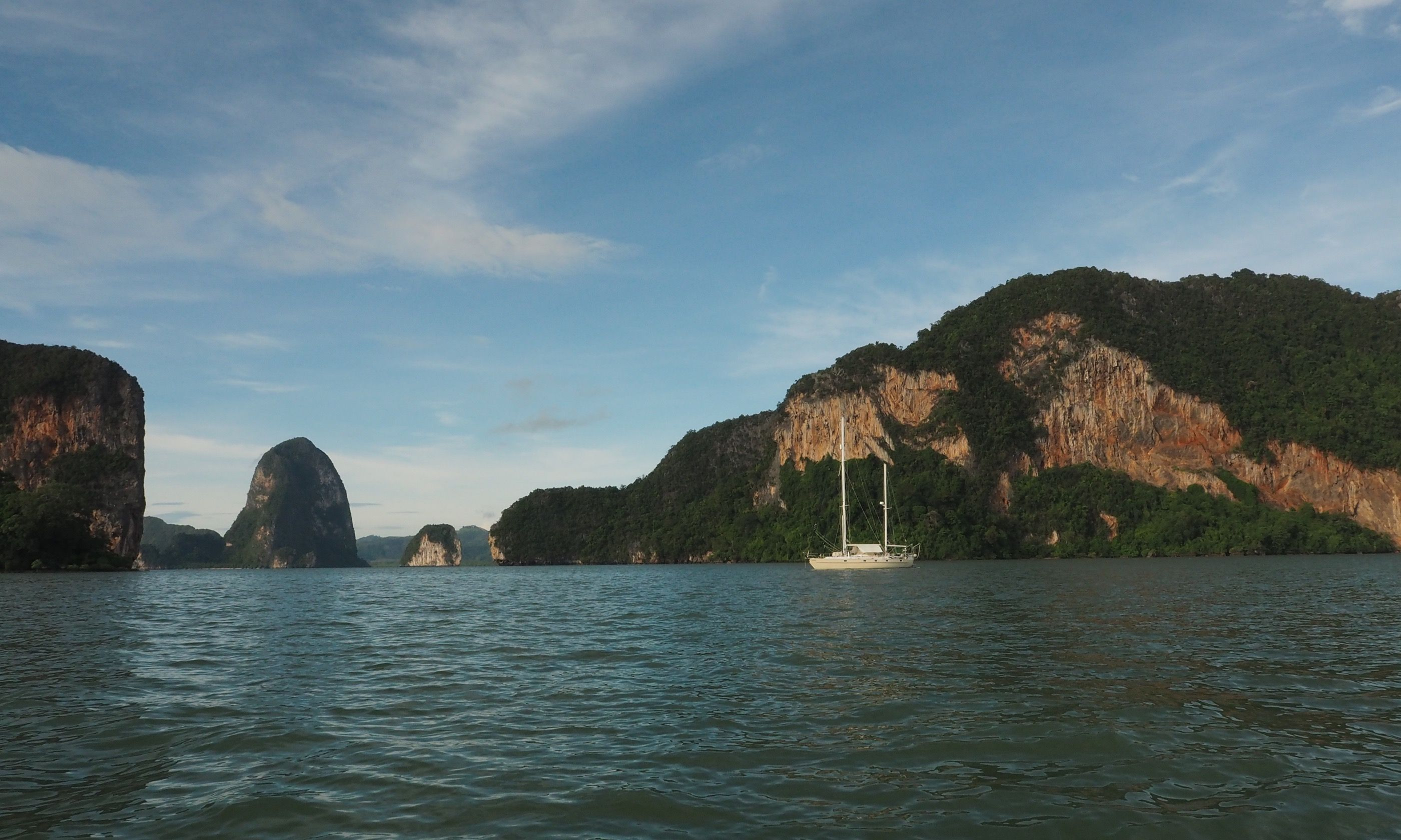 SY Esper, moored near James Bond Island (Jamie Furlong)