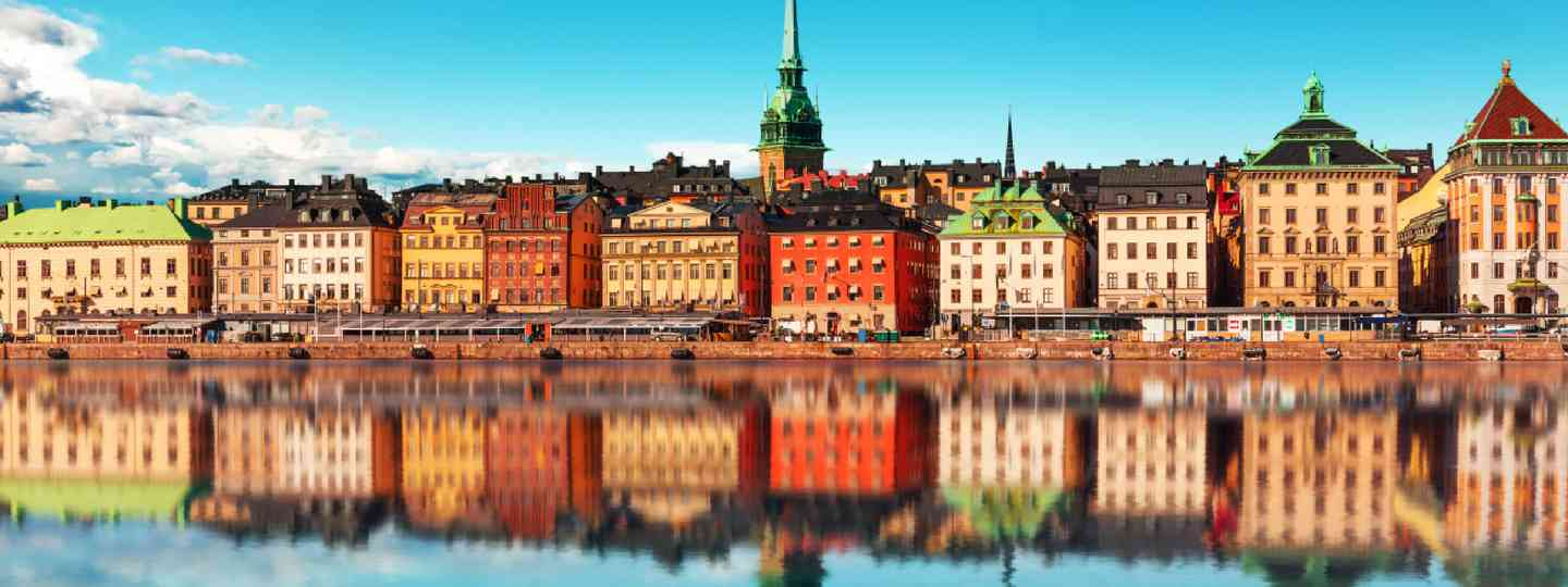 Scenic summer panorama of the Old Town, Stockholm (Shutterstock: see credit below)