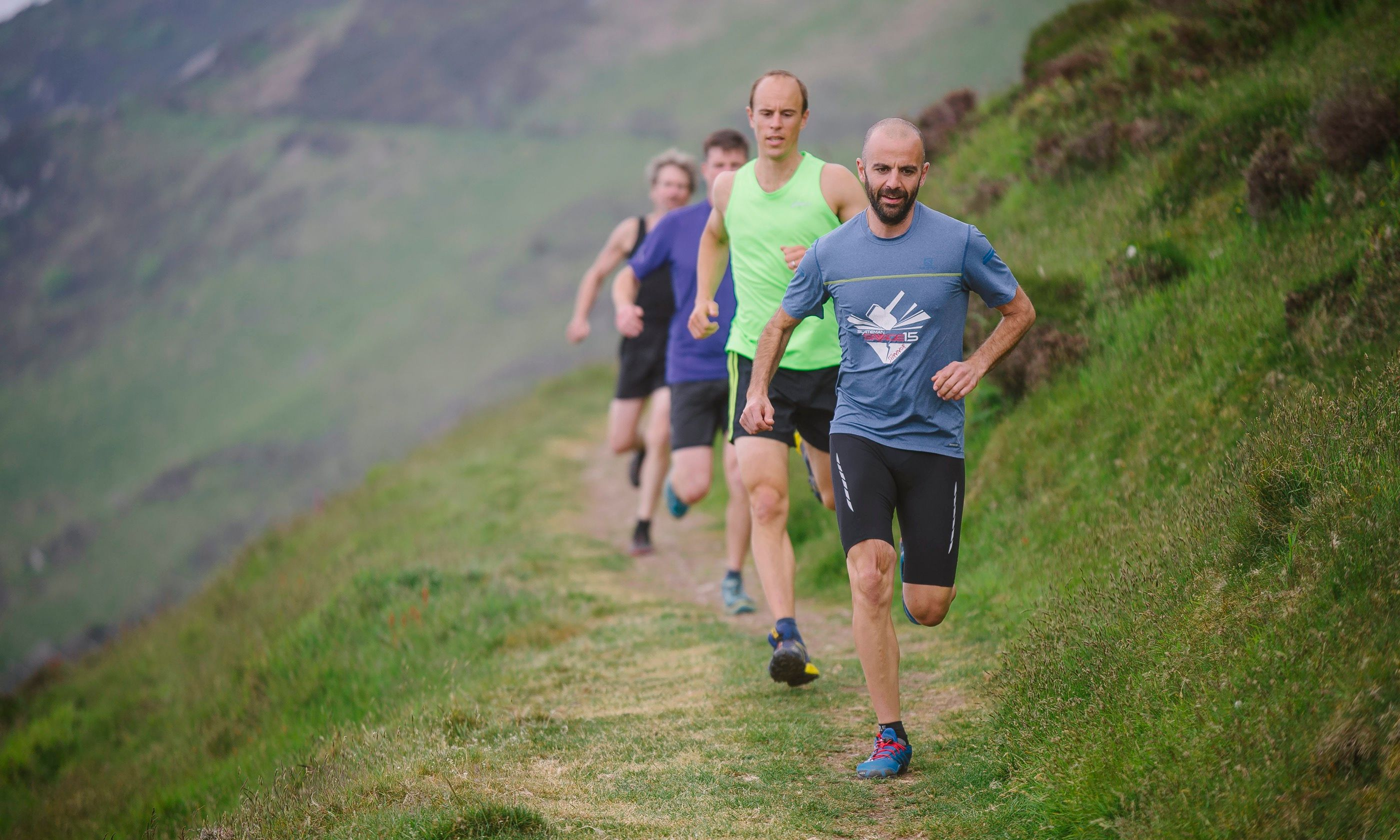 Competitive running in the Heddon Valley (Jim Wileman)