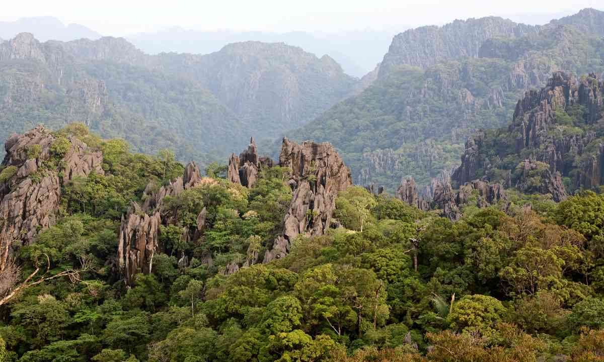 The rugged Annamite mountains of Laos (Dreamstime)