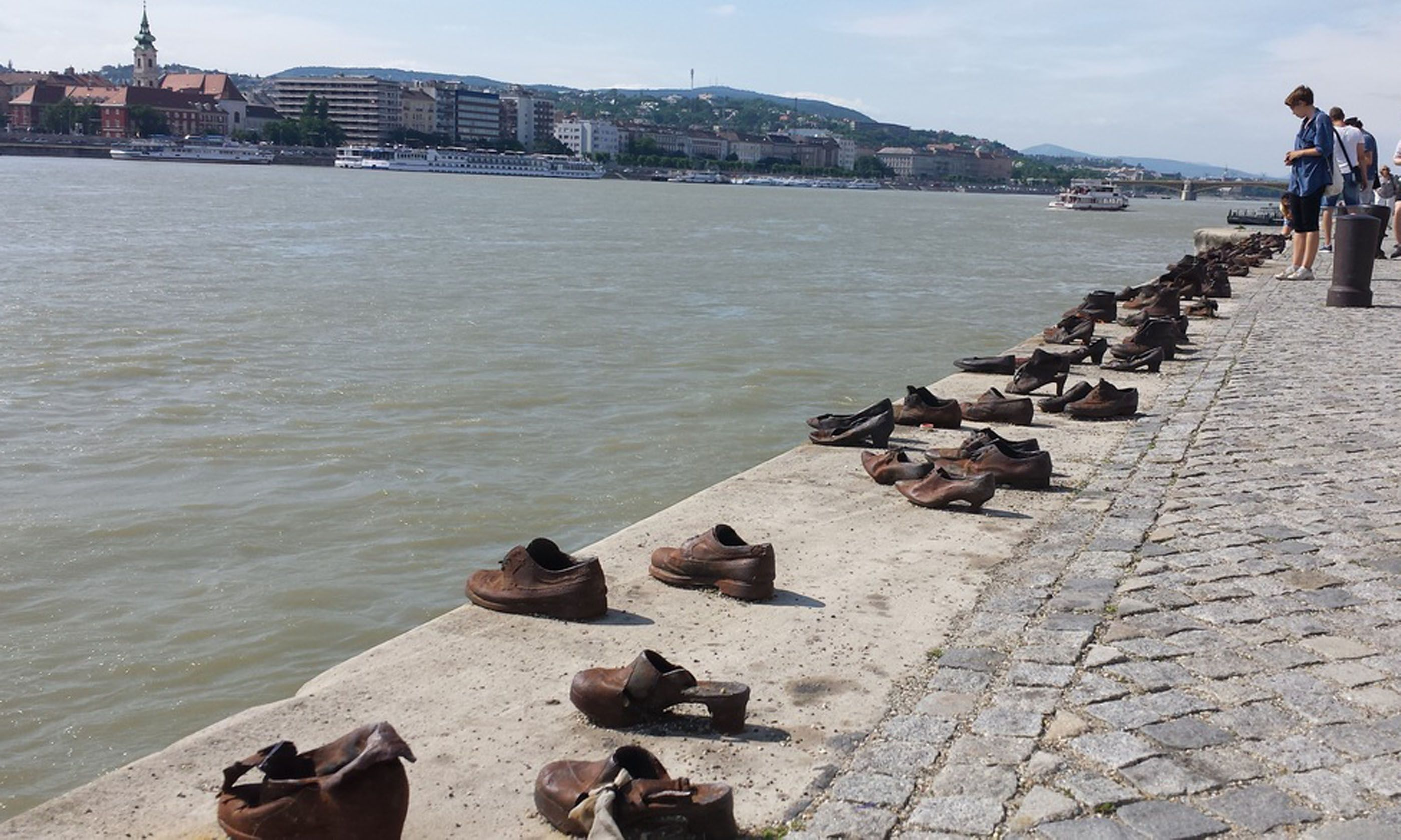 Shoes drying by the Danube (Rowen Sisters)