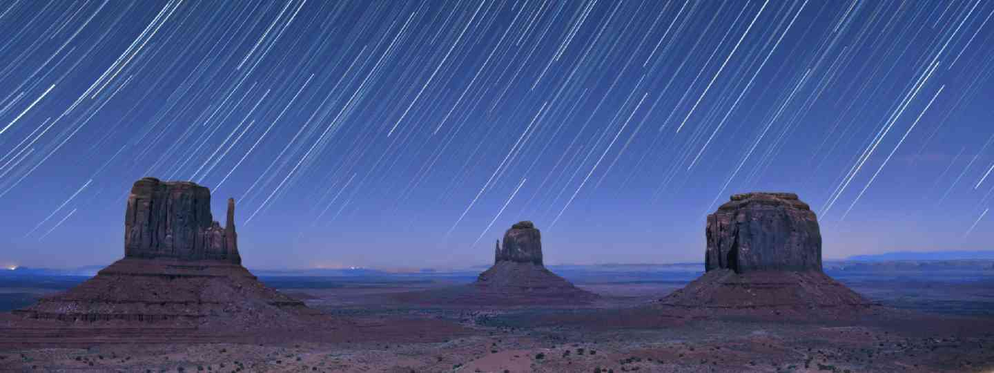 Star trails in the night over Monument Valley, USA (Shutterstock: see credit below)