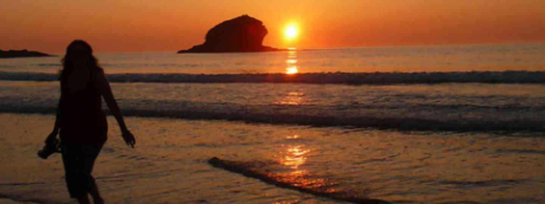 Portreath beach at sunset (Lauren Williams)
