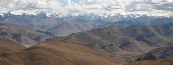 Himalaya seen from the Pang-la Pass in Tibet (Einar Fredriksen)