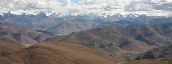 Himalaya seen from the Pang-la Pass in Tibet (Einar Fredriksen)