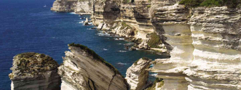 Bonifacio (Corsica) may look set to fall in but it isn't... Honest! (Dreamstime)