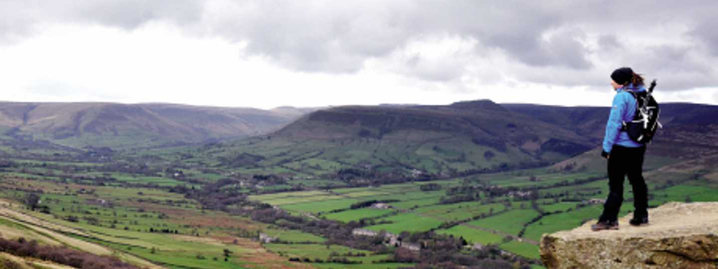 Back Top is a good place to gaze down on Edale (Phoebe Smith)