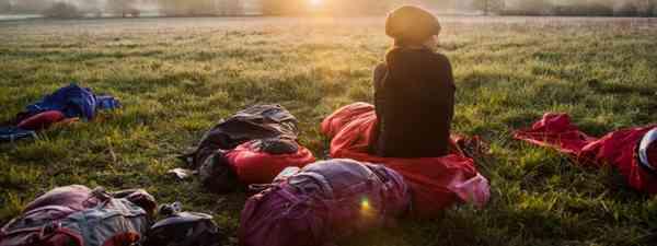 Watching the sun rise on a mini adventure (Alastair Humphreys)