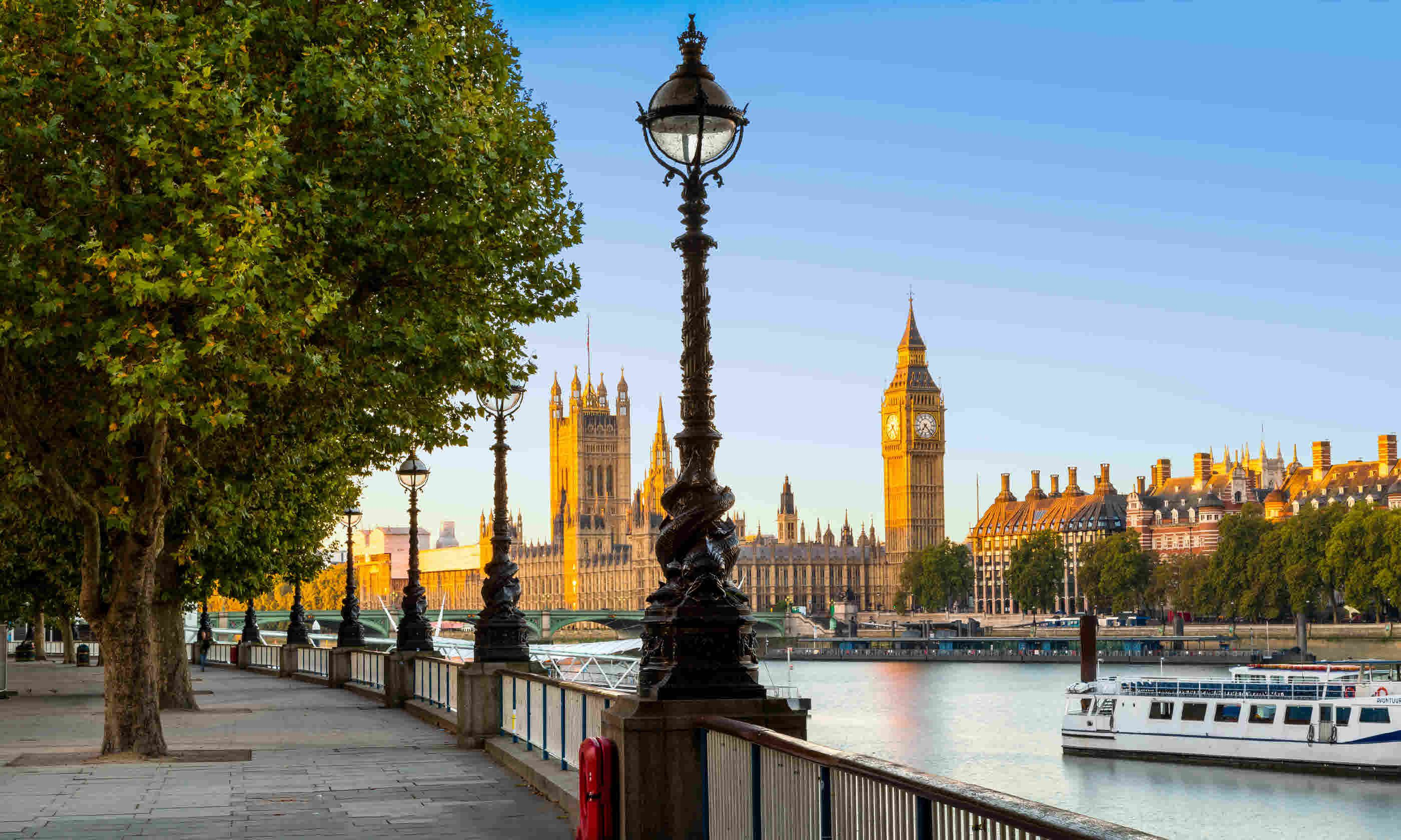 South Bank of River Thames with Big Ben and Palace of Westminster (Shutterstock)