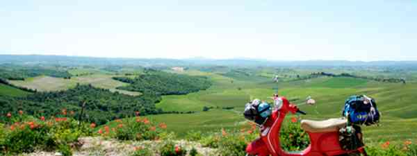 Vespas provide the perfect way to get aroubd and discover the Tuscan towns (All images credited to Daisy Cropper/Fred Caws/Chris Wee)