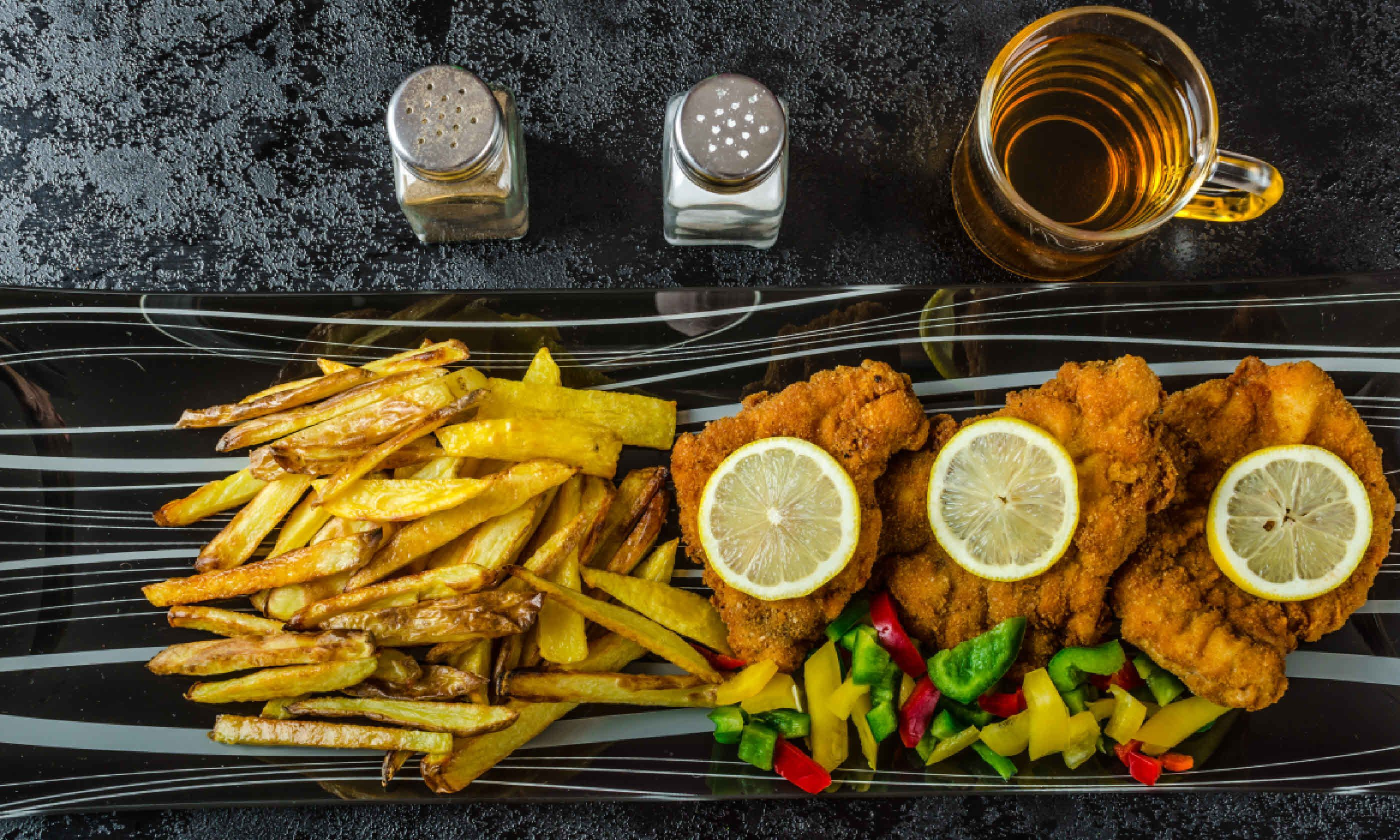 Schnitzel with french fries (Shutterstock)