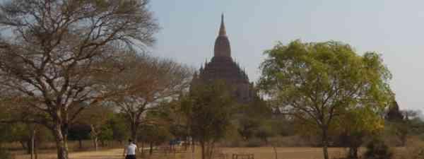 Take in Bagan's temples by bike (Katherine Sazdanoff)